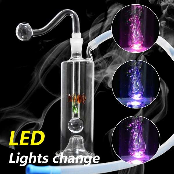 water, glasswaterpipe, led, tobacco