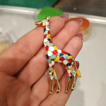 kids, cute, brooches, giraffe