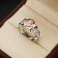 roseflowerring, Flowers, 925 sterling silver, wedding ring