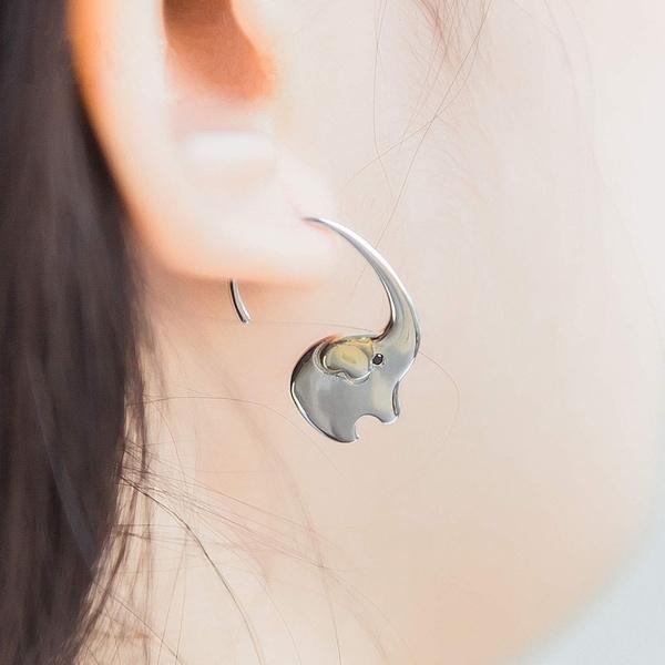 elephantearring, Sterling, Jewelry, Sterling Silver Earrings