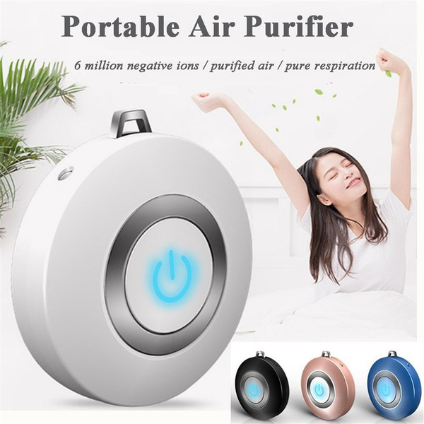 Portable Mini Air Purifier Ion Generator Necklace Wearable Odor Smoke Remove