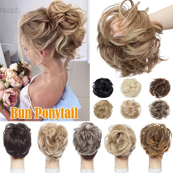 thickhair, hairbun, Elastic, Hair Extensions