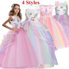gowns, girls dress, kids clothes, sleevelesslongdre