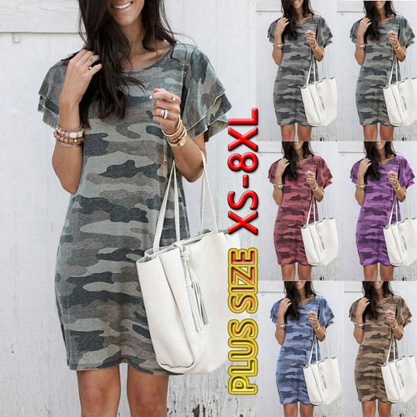 Summer, short sleeve dress, Mini, plus size dress