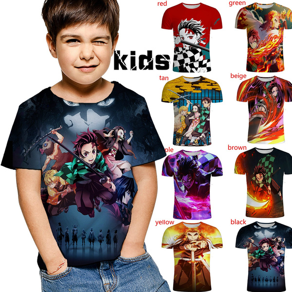 kids, Summer, shortsleevestshirt, 3dprintedkidstshirt