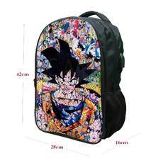 usb充电书包, packsack, School, Dragon ball z backpack