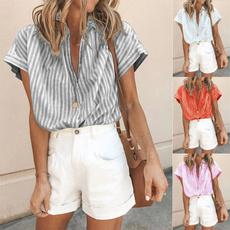 shirtsforwomen, Plus Size, stripedblouse, topsandblouse