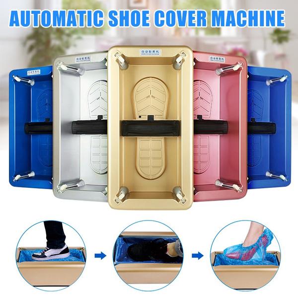 Home Office Auto Shoe Cover Dispenser Machine Disposable Overshoe Dispenser Tool
