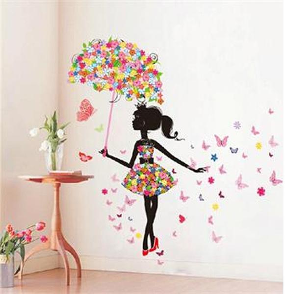 butterfly, homedecorsticker, Flowers, art