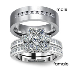 Sterling, Heart, wedding ring, Engagement Ring