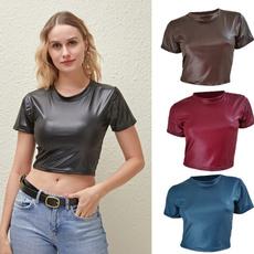 leathertshirt, Moda masculina, Spandex, solidcolortop