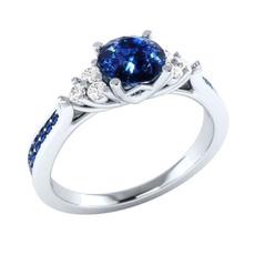 silver plated, DIAMOND, Princess, 925 silver rings