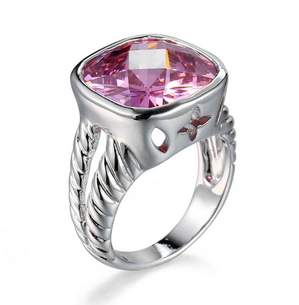 pink, Sterling, DIAMOND, Princess