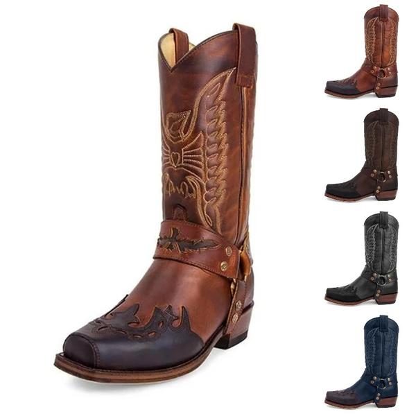 Fashion, Cowboy, Waterproof, leather