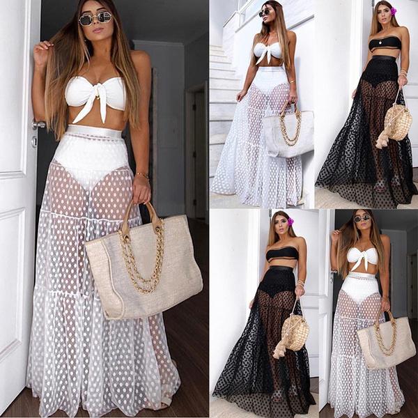 Fashion, chiffon, long dress, Skirts