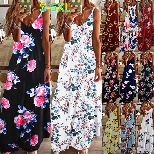 Summer, Fashion, Floral, Dresses