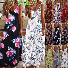 Summer, Fashion, Floral, Dresses