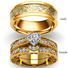 18 k, yellow gold, DIAMOND, wedding ring