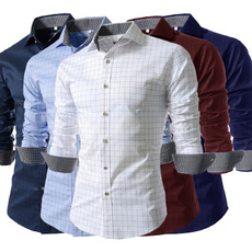 plaid shirt, Turn-down Collar, plaid, shirtsforman