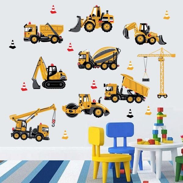 School, adesivodeparede, Tractor, wandaufkleber
