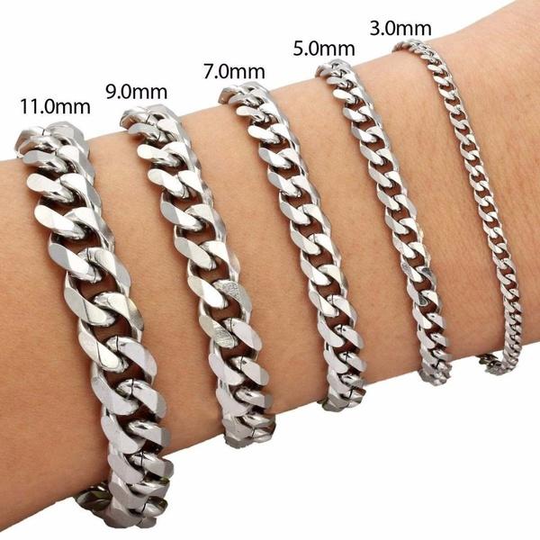 Titanium Steel Bracelet, gold bracelet, Chain, Stainless Steel
