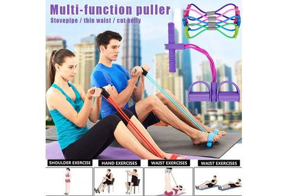 Arm LANYHU Elastic Pull Rope Elastic Pull Rope Fitness Equipment for Abdomen Waist Resistance Bands Fitness Sit-up Pull Rope Bodybuilding Tension Rope Yoga Stretching Slimming Training