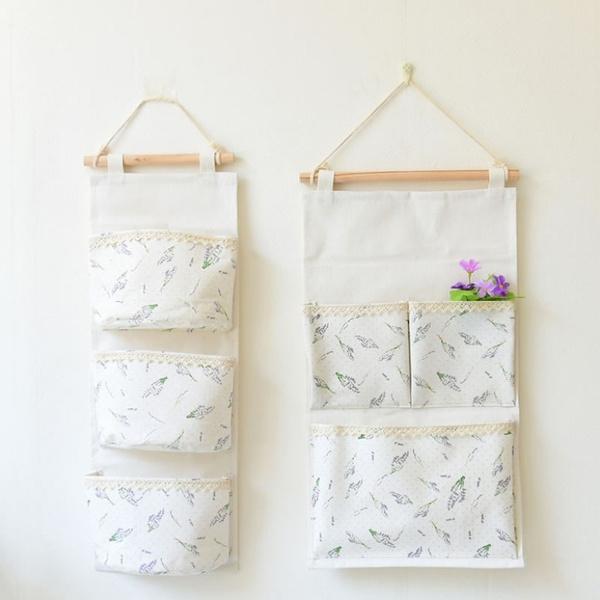 wallmountedstoragebag, Cotton, Home Decor, Bags