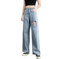 Blues, Summer, trousers, distressedjean