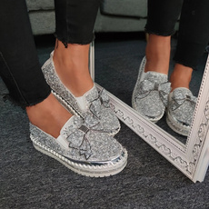 casual shoes, bowknot, Platform Shoes, Flats