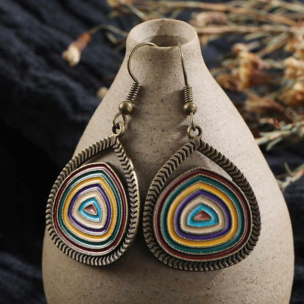 pendantearring, bohojewelry, Jewelry, vintage earrings