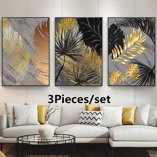 decoration, golden, canvasart, Wall Art