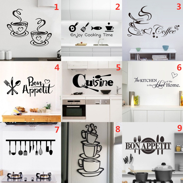 Coffee, coffeewallsticker, Waterproof, Stickers
