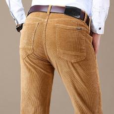 men's jeans, Coffee, khaki, Elastic