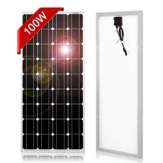 rv, 100w12vmonocrystallinesolarpanel, Battery, camper