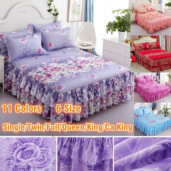 floralbedcover, bedskirtking, bedskirtsqueensize, Home & Living