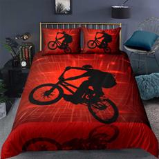 Bikes, silhouette, Bedding, bettbezug