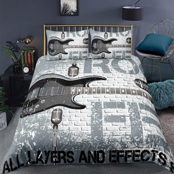 Blues, King, Grey, Bedding
