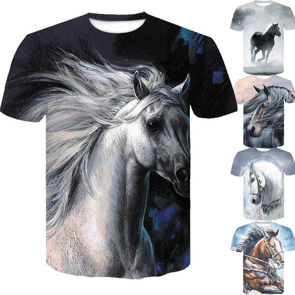 Funny, horse, Funny T Shirt, Casual