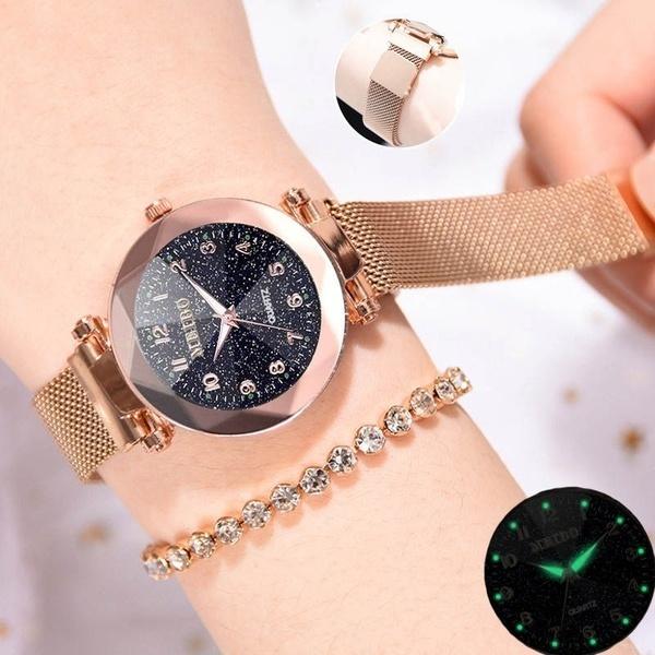 starryskywatch, DIAMOND, gold, Bracelet Watch