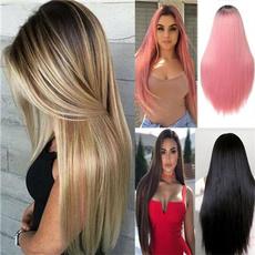 Black wig, wig, Straight Hair, brownwig