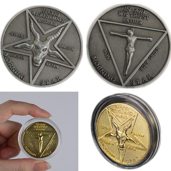 Coin lucifer morningstar Redbubble logo