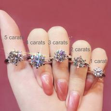 Sterling, DIAMOND, Jewelry, restroearring