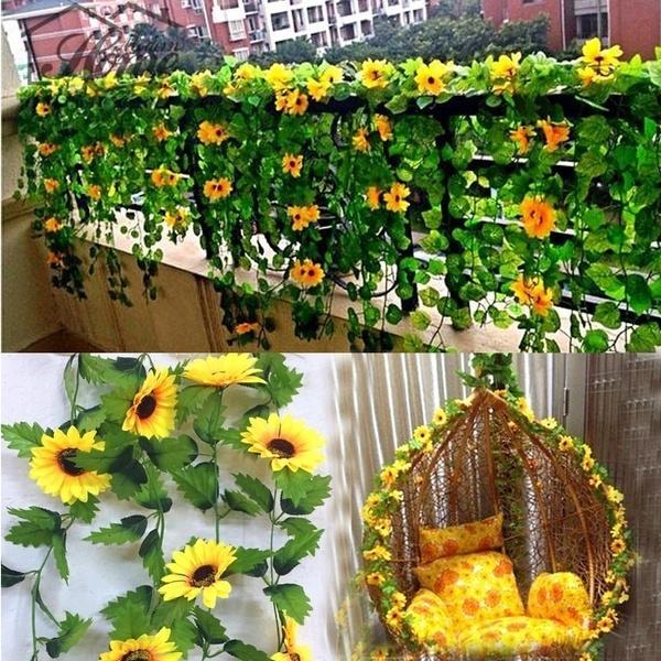 artificialsunflower, Home & Kitchen, Flowers, Garland