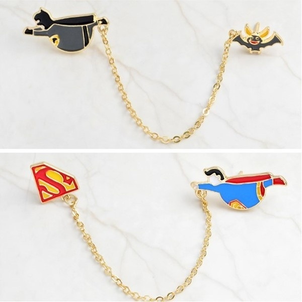 Fashion, supermanacc, Pins, Batman