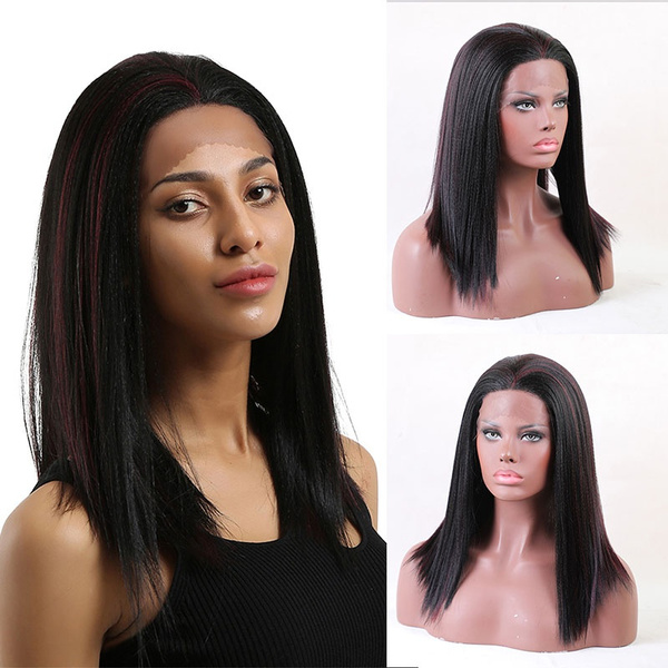 wig, Synthetic Lace Front Wigs, Lace, Straight Hair