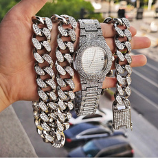 hip hop jewelry, gold, Bracelet, Watch