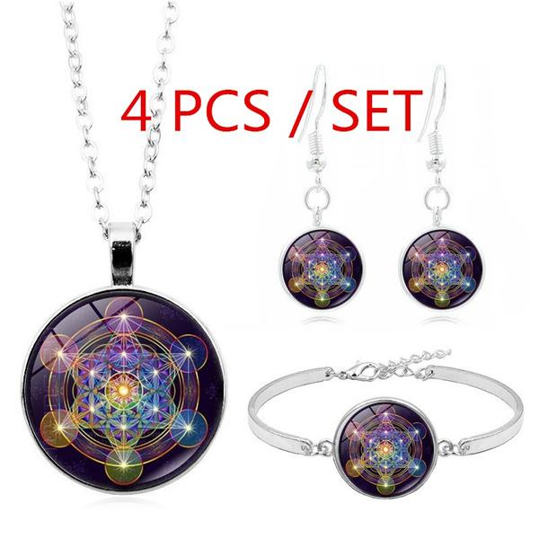 mathematic, metatron, cube, Jewelry