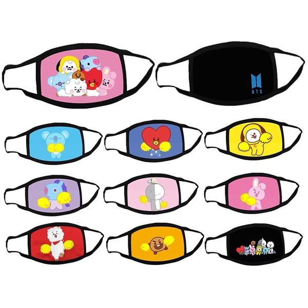 K-Pop, cartoonmask, antifogmask, halffacemask