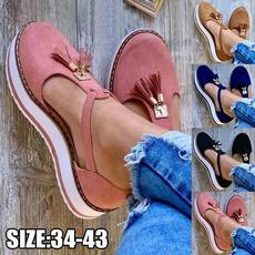 Summer, Tassels, Plus Size, Platform Shoes