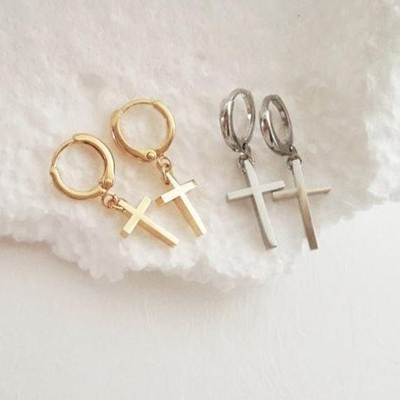 earringforwomen, crossearring, Hoop Earring, Jewelry